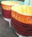 Pabrik terpal orange kolam bulat
